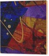 Mickey's Triptych - Cosmos IIi Wood Print