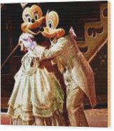 Micky And Minnie Mouse Skate Wood Print