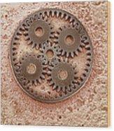 Microcogs Wood Print