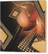 Microprocessor Chips, Artwork Wood Print