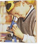 Microscope Use Wood Print