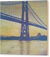 Mid-hudson Bridge Sunrise Wood Print