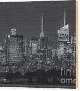 Mid-town Manhattan Twilight II Wood Print
