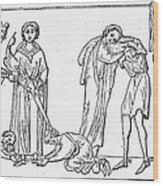 Middle Ages: Knighting Wood Print