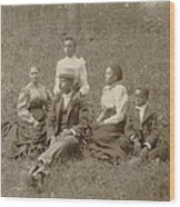 Middle Class African American Family Wood Print