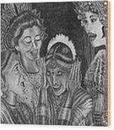 Middle Eastern Women Wood Print