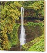 Middle North Falls Wood Print