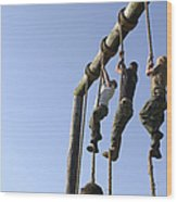 Midshipmen Tackle The Ropes Portion Wood Print