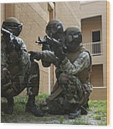 Midshipmen Take Cover During Urban Wood Print