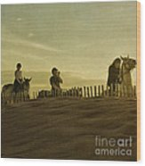 Midsummer Evening Horse Ride Wood Print by Paul Grand