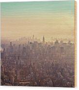Midtown Manhattan At Dusk Wood Print by Matthias Haker Photography