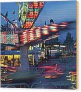 Midway Blur Wood Print