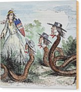 Midwest Copperheads, 1863 Wood Print