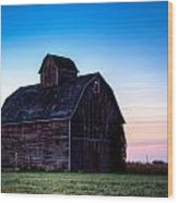 Midwest Sun Down Wood Print by Dan Crosby