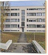 Mies Van Der Rohe Building Stuttgart Weissenhof Wood Print