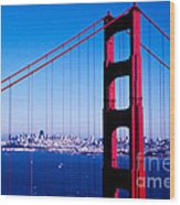 Mighty Golden Gate Wood Print
