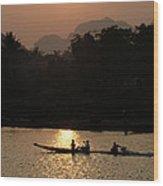 Mighty Mekong Wood Print