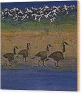Migration Series Geese 2 Wood Print by Carolyn Doe