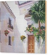 Mijas Spain Wood Print