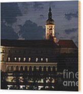 Mikulov Castle At Night Wood Print by Michal Boubin