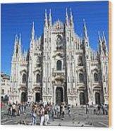 Milan Duomo Cathedral Wood Print