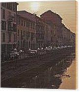 Milan Naviglio Grande Wood Print