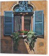 Milano Apartment Window Wood Print
