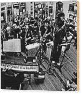Mile High Jazz Band Comma Coffee Carson City Nevada Wood Print