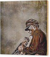 Miles Davis Wood Print by Andrzej Szczerski