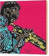 Miles Davis Full Color Wood Print