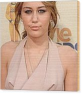 Miley Cyrus Wearing A Moschino Cheap & Wood Print