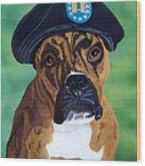 Military Boxer Wood Print