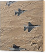 Military Fighter Jets Fly In Formation Wood Print