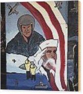 Military Mural Wood Print