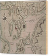 Military Plan Of The North Part Of Rhode Island Wood Print