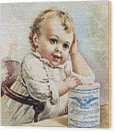 Milk Trade Card, 1893 Wood Print