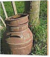 Milkcan Wood Print
