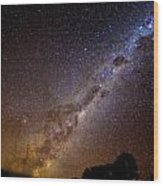 Milky Way Down Under Wood Print
