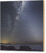 Milky Way Over Cape Otway, Australia Wood Print