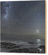 Milky Way Over Cape Schanck, Australia Wood Print
