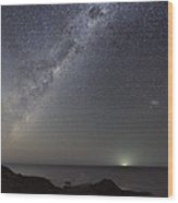 Milky Way Over Flinders, Australia Wood Print