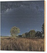 Milky Way Over Parkes Observatory Wood Print