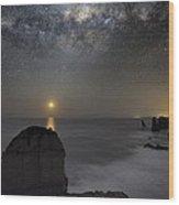 Milky Way Over Shipwreck Coast Wood Print