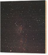 Milky Way Starfield Wood Print by Alan Sirulnikoff