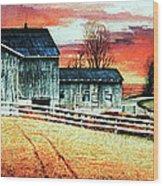 Mill Creek Farm Wood Print