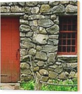 Mill Door And Window Wood Print