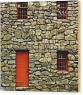 Mill House Over Stream Wood Print