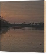 Mill Pond Sunset Wood Print