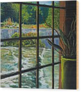 Mill With A View Wood Print by Peter Jackson