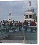 Millennium Footbridge Wood Print